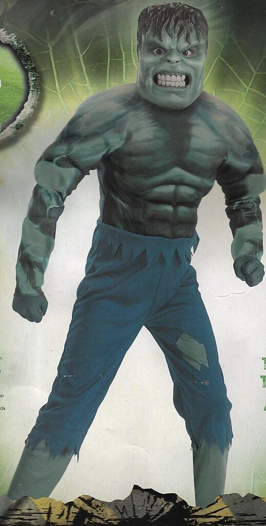 Incredible Hulk Costume Boys Medium 7-8 Deluxe Halloween Movie Superhero