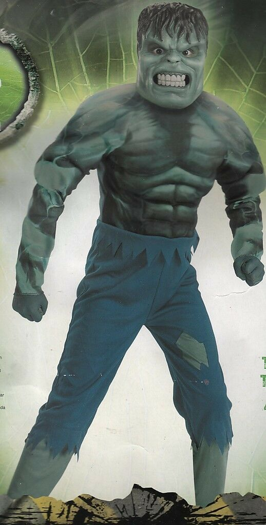 Incredible Hulk Costume Boys Medium 7-8 Deluxe Halloween Movie Superhero