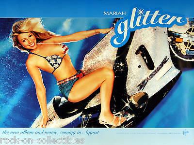 MARIAH CAREY 2001 GLITTER MOTORCYCLE PROMO POSTER ORIGINAL