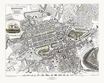 Edinburgh, Scotland in 1834 SDUK town plan