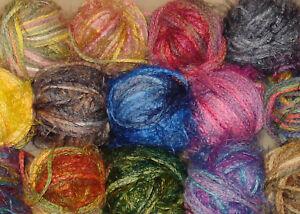 Gedifra Distrato Cotton/Fuzzy Soft Striping Aran Yarn 14 Color Mix RARE