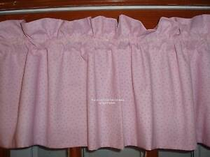 Perfect boutique BABY girl PINK lilac PURPLE MINI Polka DOT Custom lined VALANCE