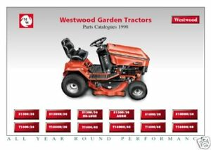 Westwood  Laser Mountfield 1990-00 S T L series Ride On Tractor Parts Manual cd