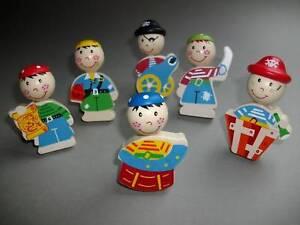 6 pomelli per mobili pirati legno bambini maniglia - Pomelli per mobili bambini ...