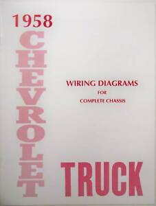 58 1958 chevy truck wiring diagram manual ebay. Black Bedroom Furniture Sets. Home Design Ideas