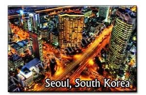 Downtown-Seoul-South-Korea-Souvenir-Fridge-Magnet