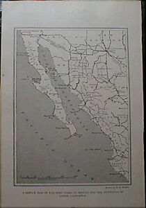 Baja-California-Map-1919-Sonora-Chihuahua-Mexico