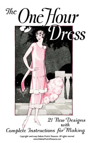 1930s Fashion Colors, Clothing & Fabric   3- One Hour Dress (Flapper Frock Patterns) BOOK 3 1925 $12.99 AT vintagedancer.com