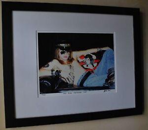 Guns-N-039-Roses-early-Axl-Rose-Rare-1985-fine-art-photo-signed-16-100-16x20-frame
