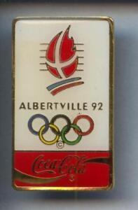 RARE-BIG-PINS-PIN-039-S-OLYMPIQUE-OLYMPIC-ALBERTVILLE-92-COCA-COLA-COKE-2R
