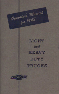 1948 Chevrolet Truck Light & Heavy Duty Owner's Manual
