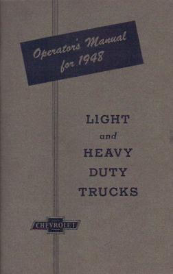 1948 Chevrolet Truck Light & Heavy Duty Owner's Manual