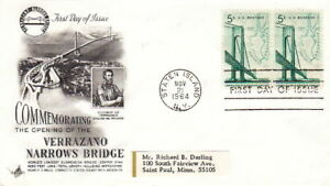 1964-FDC-ART-CRAFT-CACHET-VERRAZANO-NARROWS-BRIDGE