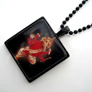 Ganesh-GANESHA-Hindu-Buddhist-GLASS-Pendant-Necklace