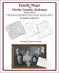 Family-Maps-Clarke-County-Alabama-Genealogy-AL-Plat