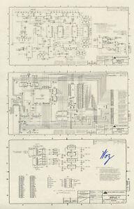 steve wozniak signed apple 1 schematic diagram rare ebay. Black Bedroom Furniture Sets. Home Design Ideas