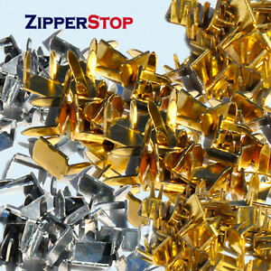 Zipper-stopers-Bottom-Stops-Brass-or-Silver