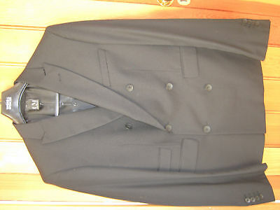 Cold Method Black Double Breasted Suit Jacket Tailored Smart Size 40