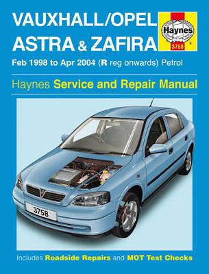 Haynes Manual Vauxhall Astra Zafira Petrol 98-04 Workshop Repair Book 3758