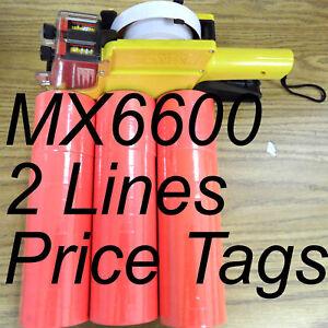 RED-42-Roll-X-500-Tag-label-Refill-MX-6600-Price-Gun