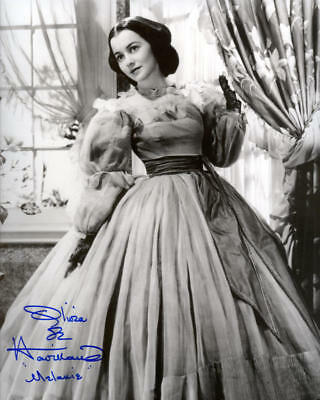 1939 *GONE WITH WIND* MOVIE PHOTO OLIVIA DE HAVILLAND SIGNED REPRINT FREE S&H