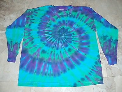 Long Sleeve Kids Tie Dye Dyed T-shirt S 6-8 Youth Small