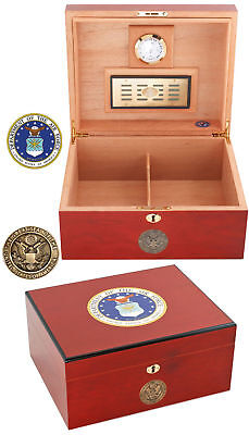 AMERICAN EMBLEMS UNITED STATES AIR FORCE 50 CIGAR HUMIDOR - BRAND NEW IN BOX!!!