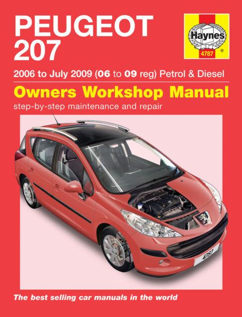 Peugeot 207 1.4 1.6 Petrol Diesel 2006-09 (2006 - 2009 Reg) Haynes Manual 4787