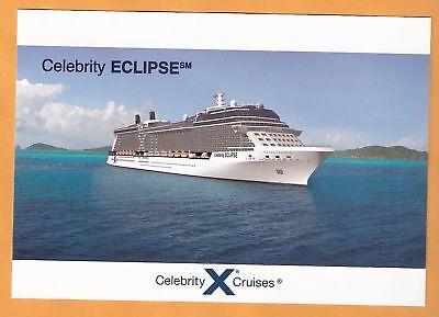 Celebrity Eclipse    Cruise Ship    Post Card     Pre Inaugural
