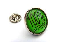 100% Attitude - Scherzo Divertente Umorismo Spilla Distintivo Regalo -  - ebay.it