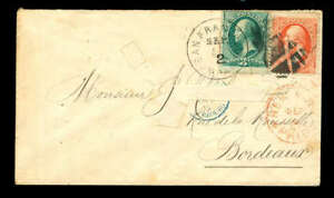 momen-US-Stamps-1875-147-amp-149-on-Cover-to-France