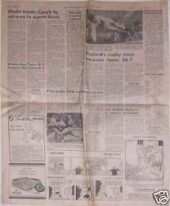 NEWSPAPER-WITH-REPORT-OF-1979-ENGLISH-TOUR-TO-JAPAN