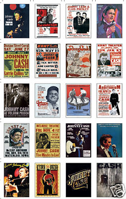 Johnny Cash Concert Posters Trading Card Set
