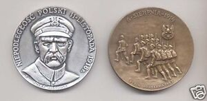 2-POLISH-POLAND-WWI-1918-PILSUDSKI-LEGION-MEDAL-set
