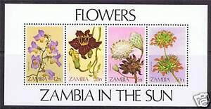 Zambia-1983-Wild-Flowers-MS-SG-387-MNH