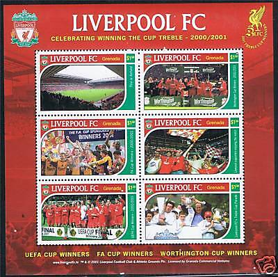 Grenada 2001 Liverpool Football Club SG4585/90 MNH