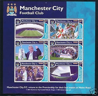 Grenada 2002 Manchester City FC MS SG4813 MNH
