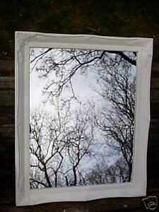 WHITE-SHABBY-CHIC-WALL-MIRROR-WITH-ORNATE-FRAME-Overall-Size-20-x-24