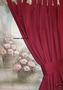 Burgundy Tab Top Caravan Door Curtain Tieback Free Pp Ebay