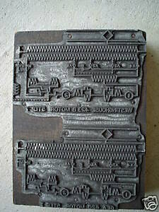 OLD Engineering Metal Printer Block Westinghouse