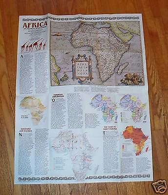 Africa Its Political Development Map National Geographic 1980