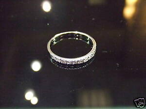 Diamond-Wedding-Band-Ring-14k-White-Gold-Ring-Diamond-Anniversary-Band-SIZE-7-75