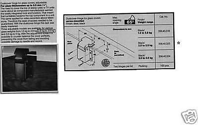 Hafele 356.40.325 Dust-cover Hinge, Black, Adjustable