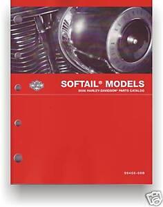 HARLEY-DAVIDSON Teilebuch Softail 2008 Katalog FXST FLST Heritage 99455-08A Buch