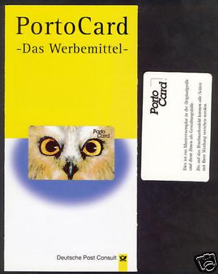 Muster-Werbemarkenheft im Folder der Post Consult