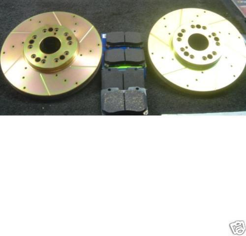 FOR LEXUS LS400 CELSIOR 1994-2001 FRONT  DRILLED GROOVED BRAKE DISC & PADS