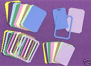 TAG SCALLOP  rectangle frame die cuts scrapbook cards