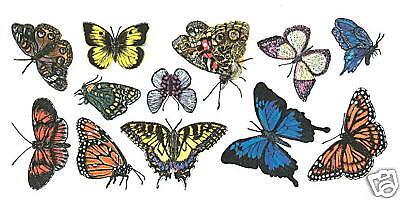BUTTERFLIES WALL DECOR STICKER ART TRANSFER ART DECALS TATOUAGE