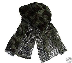 BOYS-MILITARY-SCRIM-NECK-SCARF-camo-cotton-army-net-NEW