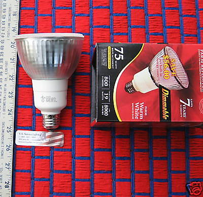19w Dimmable Fluorescent Light Bulb Cfl Brighter Beam Par30 = Replaces 75w R30